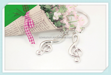 musical symbols key chain metal music notes keychains personality key pendant ring holder bag charm accessory