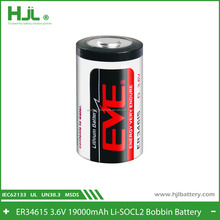 EVE Lithium Metal battery ER34615 3.6V 19000mAh capacity cell