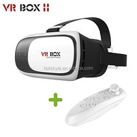 FT Three3 VR Box 2 3D Glasses Enhanced VR Virtual Reality Headset 3D Video Movie Game Glasses for with remote controller