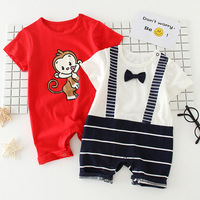 Wholesale Baby Clothes Organic Cotton Knitting Fabric Newborn Rompers