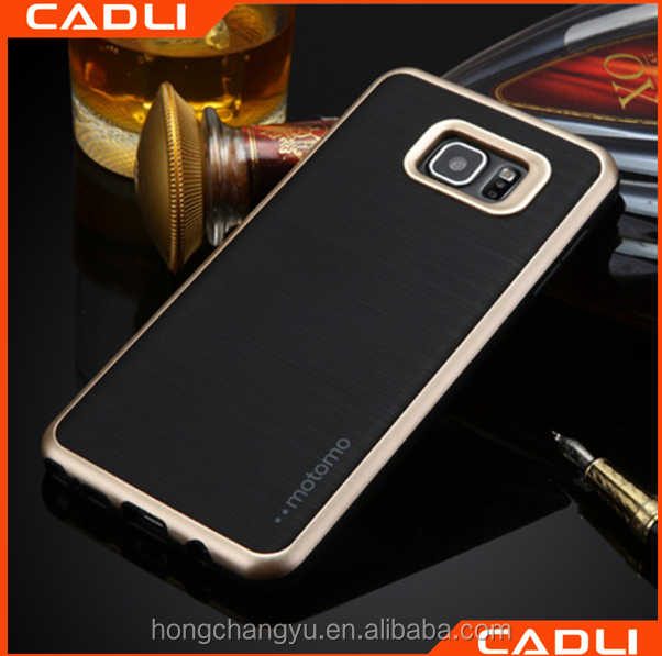 2016 Hot sale High Quality For S7 edge samsung galaxy motomo tpu pc phone case