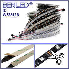Christmas SMD 5050 WS 2812B Pixel DC 5V Addressable Ic Built In Chip Magic Full Color RGB Flexible LED WS2812B IC Strip Light
