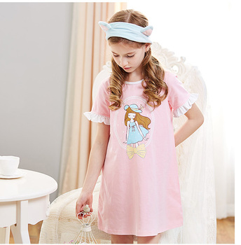 newest looking children sleeping wear baby girl summer cute dress cotton spandex pajamas