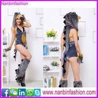 Nanbinfashion hottest wolf animal sexu movie costume for ladies