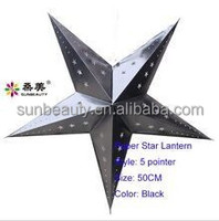 D60cm 5point 300gsm ivory cardboard silver color lucky star paper