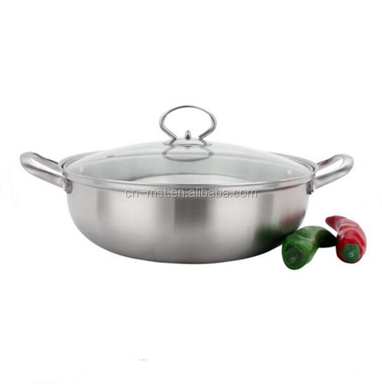 24cm mini stainless steel soup pot commercial non-stick hot pot