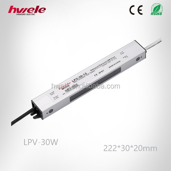 LPV-30W constant voltage dimmable led driver passed SGS,CE,ROHS,TUV,KC,CCC certification