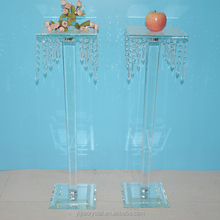 Beautiful crystal flower stand for wedding decoration