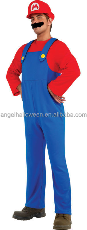 Popular funny men size super marion bros fancy dress costume cosplay AGM4009