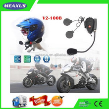 Motorcycle Helmet Waterproof Headphones Attach To Phones, Wireess Bluetooth Full Duplex Intercom for Motorcyclists
