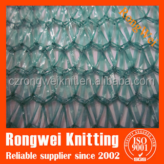 60gsm ,3 needles green and white strip crop protection netting