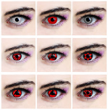 144 types available yearly wholesale cheap colored eyes cosplay party sharingan crazy contact lenses