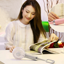 Foldable Hand Ventilator Fans Battery Operated Rechargeable Handheld Mini Fan Electric Hand Bar Desktop Stand Fan