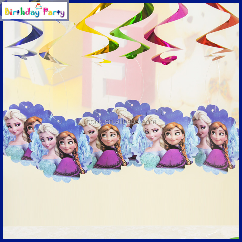 6pcs new design party swirl decorations for children