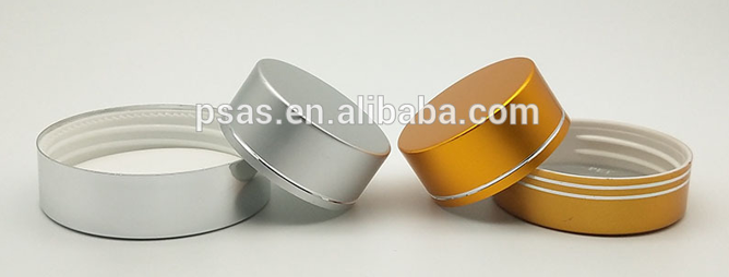 Gold Silver color metal lid aluminum cap