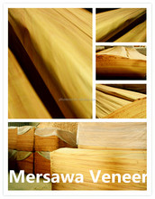 cheap mersawa veneer natural wood for guitar/Mersawa Veneer Interior Door Panels Veneer