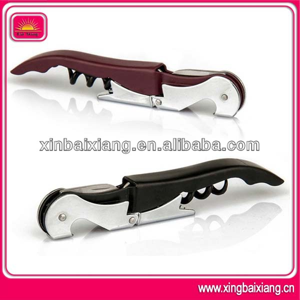 High quality metal deluxe fish shaped wine bottle opener