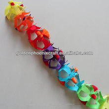 Colorful Tissue Flower Paper Garland, Artificial Decorative Garland,Paper Party Decoration