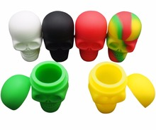 15 ml non stick FDA food grade skull shape large storage silicone dab container silicone jar dab wax bho oil container