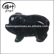 New Year Gifts Green Moss Agate Pig Pet stone animal