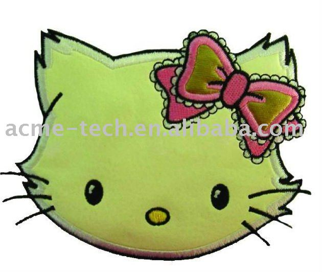 Embroidery designs in apparel-- Cute cat for childen's clothes
