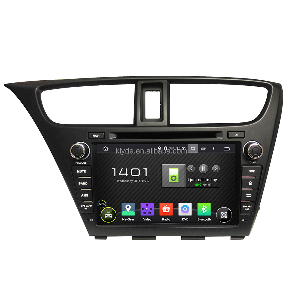 Android Car Multimedia DVD player car Radio GPS Navigation for Honda Civic 2014