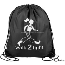 cheap printed pro sport drawstring backpack