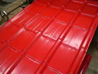 red metal roof tile