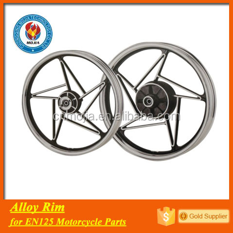 EN125 spare parts chrome motorcycle wheel