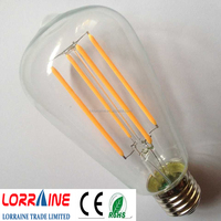 Indoor lightingr Filament ST64 E27 E26 B22 led filament bulb 85-265v energy saving light bulb