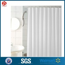 White Waterproof Long Shower Curtain Liner For Home