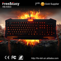 Amazing 3 colors light up LED Backlit USB Wired Gaming Keyboard