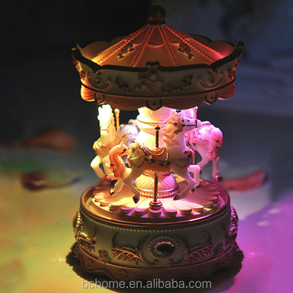 LED Carousel Musical Box with horse design