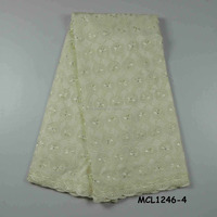 MCL1246- 4 Hotselling africa new style high quality voile dry lace ladies wedding lace fabric