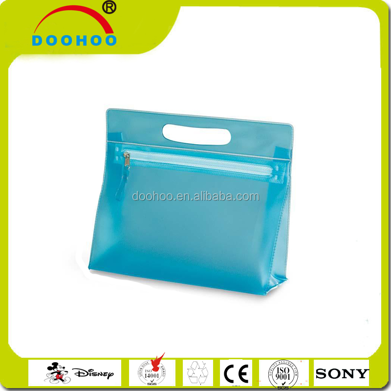 2016 cheap clear pvc toiletry bag makeup bag for promotion