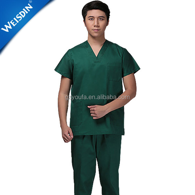 China new design unisex wholesale hospital staff doctors scrub suits medical scrub uniform