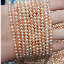 4-5 mm Oval Shape White Color Pearl Necklace Design Natural Fresh Water Pearl Necklace Cages