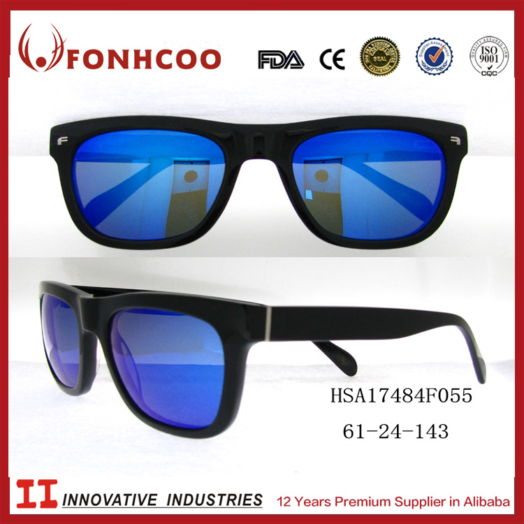 FONHCOO Hot-Selling Low Moq Blue Lens Cool Men Acetate Floating Sport Sunglasses