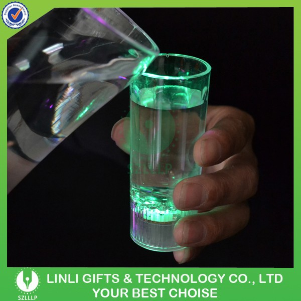 Plastic Water Activated Mini Led Shot Glass