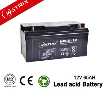 Sealed Lead Acid battery 12v 65ah VRLA AGM Storage battery for solar,ups