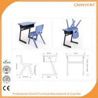 Modern style superior quality standard classroom desk and chair manufacturer sale
