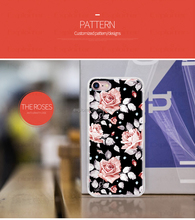 Latest hot selling china mobile phone accessories for iphone 7 case with flower design