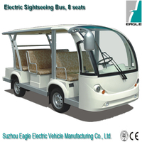EG6088K,8 seaters environmental protection electric shuttle bus for sale