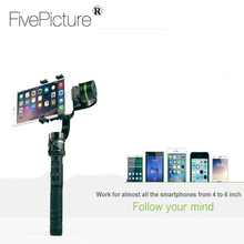 Pro 3 axis stabilizer for smartphone Smartphone handheld gimbal stabilizer for go pro iphone android mobile Sports Cameras