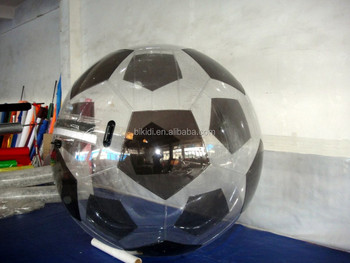 Inflatable soccer water walking ball,inflatable bubble football water walking ball D1008A