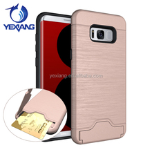 Armor Design Shockproof Case Card Slot For Samsung Galaxy S8 Wallet Back Cover