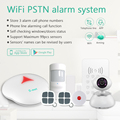 Smart WiFi home security alarm system & App controlled PSTN WiFi alarm system for home security