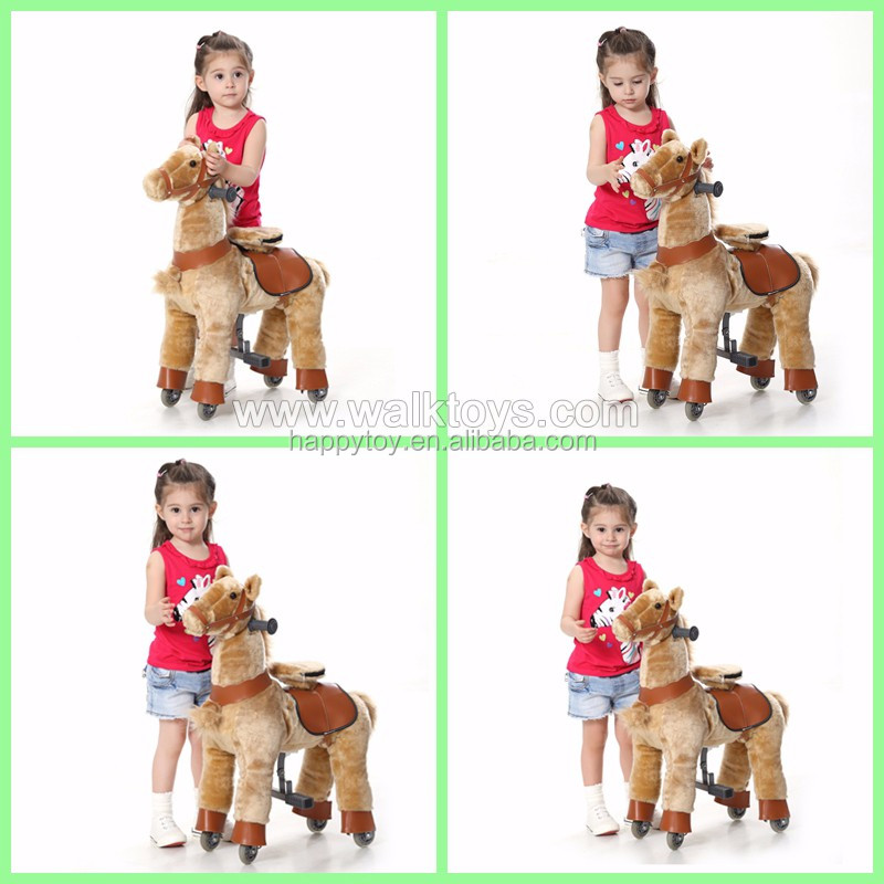 2017 most popular high quality kiddie walking animal ride, pony ride-on scooter,pony ride equipment