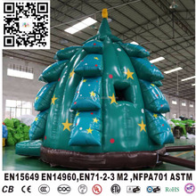 hot sale christmas tree theme inflatable bouncer,customized inflatable Christmas tree bouncer, Christmas tree