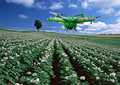 Agricultural spraying unmanned RC drone empty carbon fiber frame